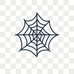 Spider vector icon isolated on transparent background, Spider logo design