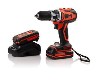 battery, charger and cordless drill screwdriver