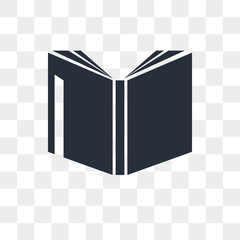 Book vector icon isolated on transparent background, Book logo design
