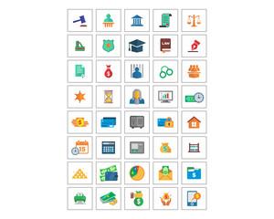 variation mixed law image vector icon logo symbol set