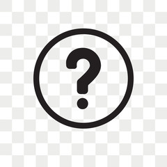 Question mark Button vector icon isolated on transparent background, Question mark Button logo design