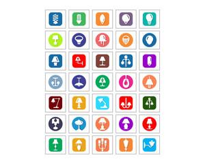 variation mixed lamp icon image vector icon logo symbol set