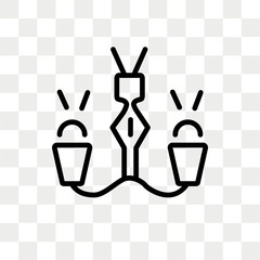 Lamp vector icon isolated on transparent background, Lamp logo design