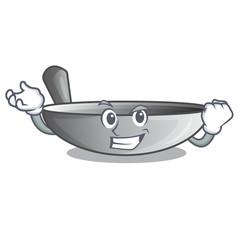Successful wok frying pan utensil kitchenware cartoon