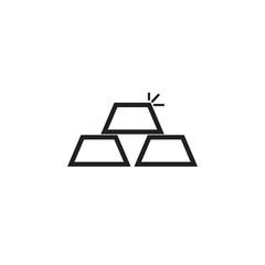Golden bars vector icon
