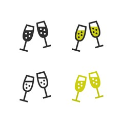 Champagne flute icons