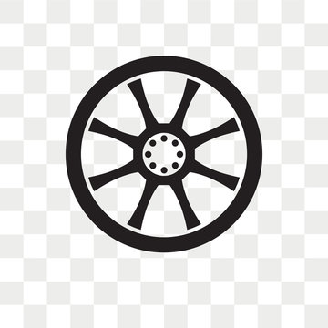 Alloy wheel vector icon isolated on transparent background, Alloy wheel logo design