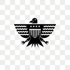 Eagle vector icon isolated on transparent background, Eagle logo design