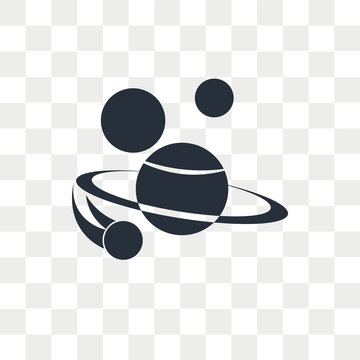 Space vector icon isolated on transparent background, Space logo design