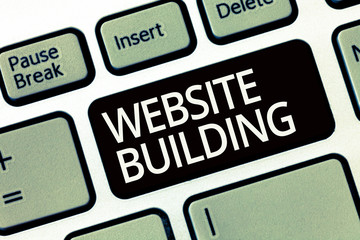 Word writing text Website Building. Business concept for tools that typically allow the construction of pages.
