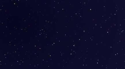 Space stars background. Light night sky vector.