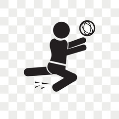 Volleyball Motion vector icon isolated on transparent background, Volleyball Motion logo design
