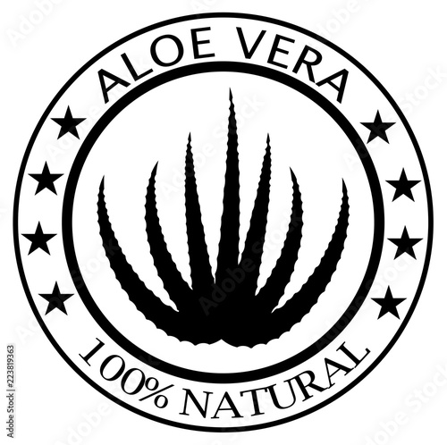 Rubber Stamp With Text 100 Aloe Vera Vector Eps 10 Stock Image