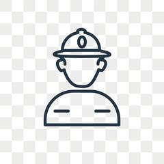 Police helmet vector icon isolated on transparent background, Police helmet logo design