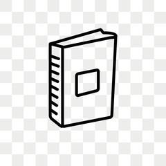 Encyclopedia vector icon isolated on transparent background, Encyclopedia logo design