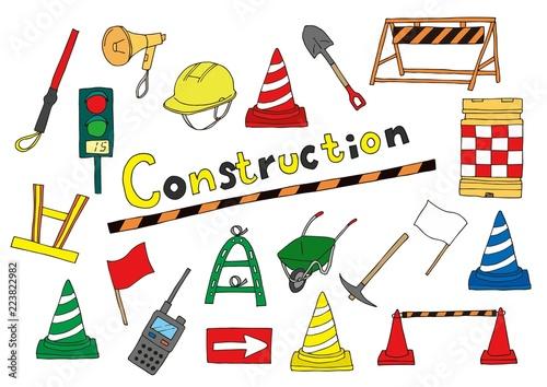 工事現場のイラストセットfotoliacom の ストック画像とロイヤリティ