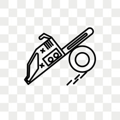 Chainsaw vector icon isolated on transparent background, Chainsaw logo design