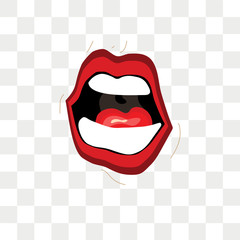 Mouth expressions vector icon isolated on transparent background, Mouth expressions logo design