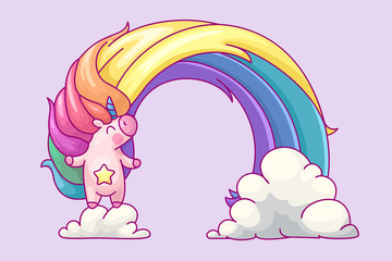vector volume rainbow unicorn