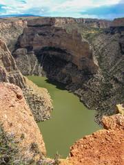 Green river at Bighorn Canyon National Recreation Area, Montana, USA