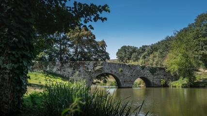 Un pont médiéval aux couleurs de l'été