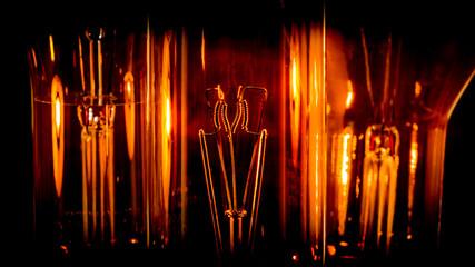 Close up sur des ampoules de sémaphores