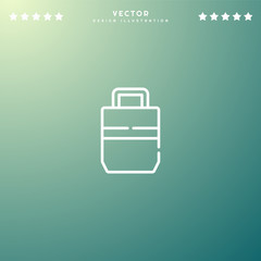 Premium Symbol of Bag Related Vector Line Icon Isolated on Gradient Background. Modern simple flat symbol for web site design, logo, app, UI. Editable Stroke. Pixel Perfect.