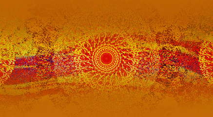Abstract dark orange color ethno background