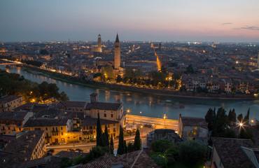 Verona vista da Castel San pietro