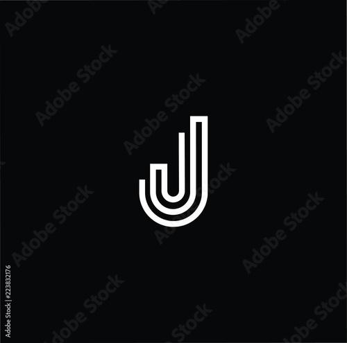 initial white letter j jj jjj logo design with black background vector illustration template
