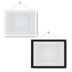 Picture Frame Set Isolated White Background