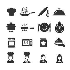 Vector image set of cooking icons.