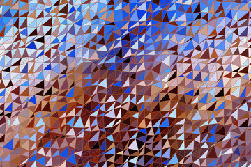 Triangle strip, abstract geometric background pattern. Messy, cover, color & texture.