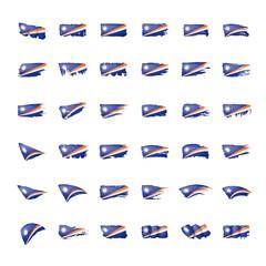 Marshall Islands flag, vector illustration on a white background.