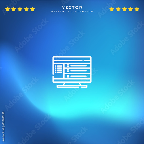 Premium Symbol of Computer Related Vector Line Icon Isolated