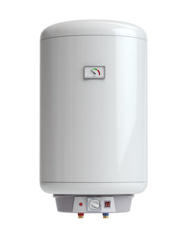 Electric boiler, water heater isolated on white background.