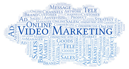 Word cloud with text Video Marketing.