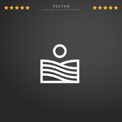 Outline Field icon isolated on gradient background, for website design, mobile application, logo, ui. Editable stroke. Vector illustration. Eps10.