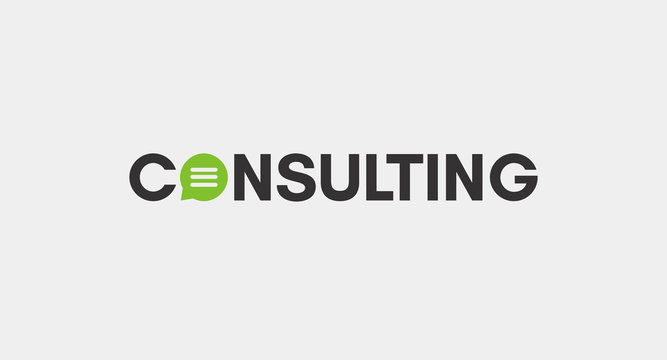 Consulting logo for business. Change text or add.