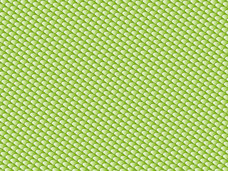 Abstract symmetrical diagonal solid color pattern in green