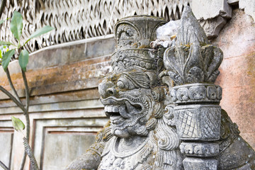 Statue of Hindu God or demon Ubud, Bali, Indonesia