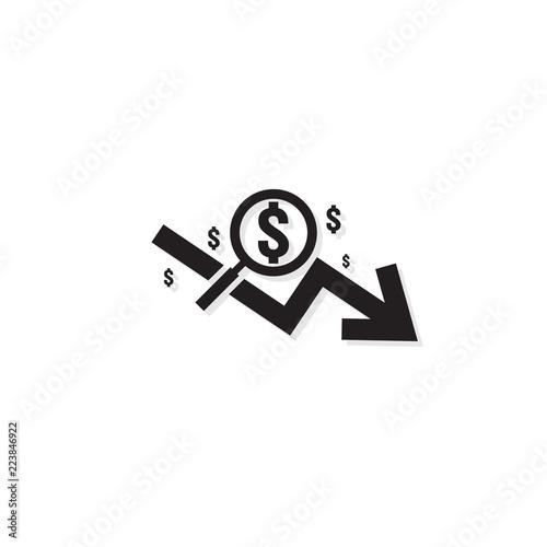 Dollar Arrow Decrease Rate Icon Money Arrow Symbol Economy