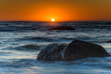 Dramatic Bold Sunrise Seascape