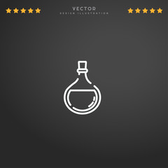 Outline Potion icon isolated on gradient background, for website design, mobile application, logo, ui. Editable stroke. Vector illustration. Eps10.