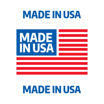 Made in USA premium quality tags. Made in USA logo