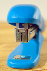 Blue Stapler close up Shallow Depth of Field
