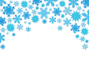 Christmas background, snowflakes. Vector illustration