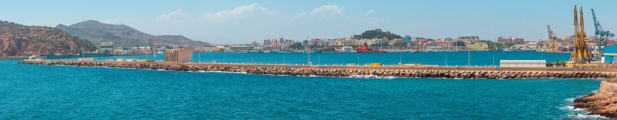 Summer Cartagena port (Costa Blanca, Spain).