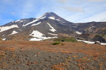 view of volcano, Kamchatka, Russia.