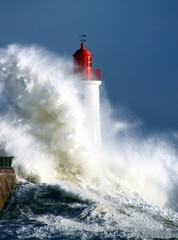 Tempête sur le phare